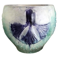 1924 Gabriel Argy-Rousseau Lotus Bowl Pate de Verre Cristal