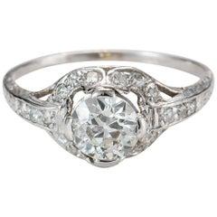 1925 1.15 Carat Diamond Platinum Engagement Ring