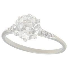 1925 1.55 Carat Diamond and Platinum Solitaire Ring