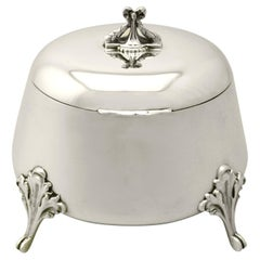 1925 Antique Yugoslavian Silver Tea Caddy