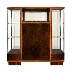 1925 Art Deco Cabinet-Showcase, Can Be Dismantled, Mahogany, Marble, France