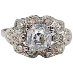 1925 Art Deco Platinum Diamond Engagement Ring