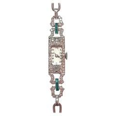 1925 Art Deco Platinum Diamonds Lady Wristwatch