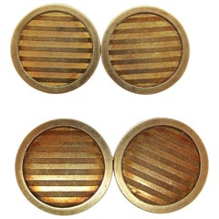1925 Art Deco Riker Bros 14 Karat Gold Cufflinks