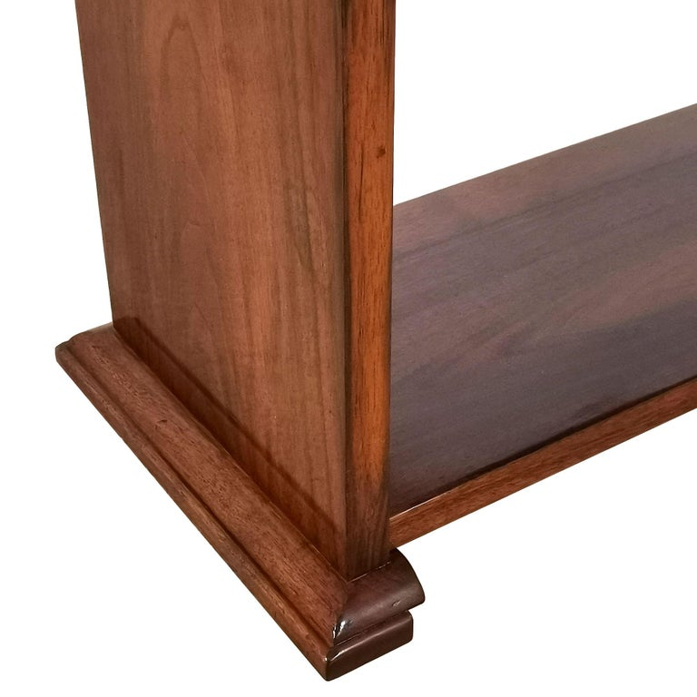 1925 Cubist Art Deco Side Table, Walnut, Marble, Ebony, Belgium For Sale 7