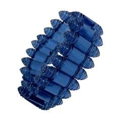 1925 Rare Rene Lalique Renaissance Blue Bracelet