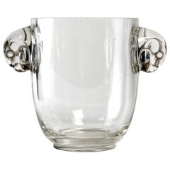 1925 René Lalique Albert Vase in Clear Glass, Falcon Heads
