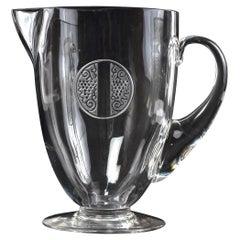 1926 René Lalique, Pitcher Decanter Obernai Clear Glass