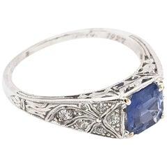 """1927"" 1.06 Carat Sapphire Ring"
