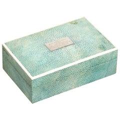 1927 Shargreen Cigarette Box Given to Jockey Bernard Brownie Carslake Shark Skin