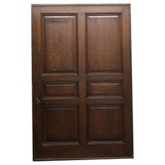 1928 Large Quarter Sawn Oak and Cherry Pocket Door from Rose Hill Tudor Mansion