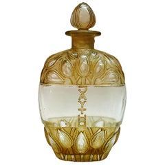 1928 Rene Lalique French Lilac Jaytho Jay-Thorpe Perfume Bottle Sepia Patina
