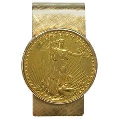 1928 St. Gaudens Double Eagle $20 Gold Coin Money Clip