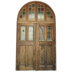 1928 Tudor Entrance to Rose Hill Chapel with Leaded Doors