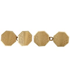 1929 Antique Yellow Gold Cufflinks