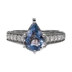 1.93 Carat Sapphire and Diamond Ring