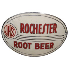 1930s-1940s JHS Rochester Root Beer Sign