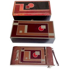 1930 Art Deco Design Icon Kodak Gift Camera No. 1A with Original Jewel Boxes