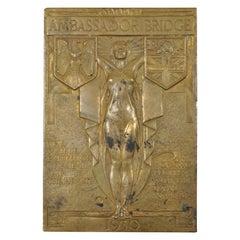 1930 Art Deco Detroit Ambassador Bridge Bronze Paperweight Jonathan Swanson
