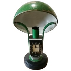 1930 Art Deco Mofem Lamp and Clock