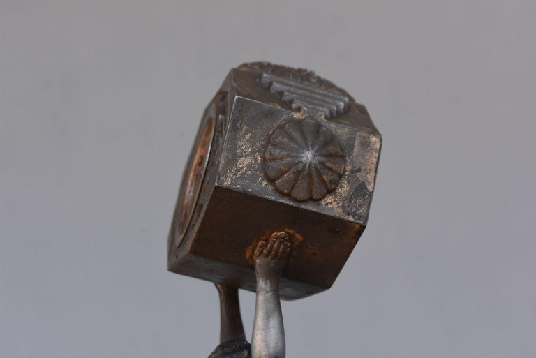 1930 Art Deco Pendulum Spelter And Portor Marble For Sale 4