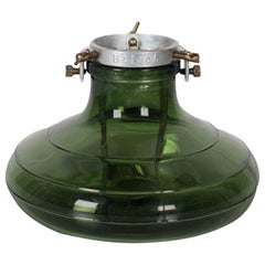 1930, Bulach of Switzerland, Green Glass Christmas Tree Stand