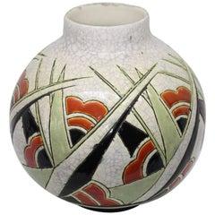 1930 Catteau Vase by Boch La Louviere Belgium