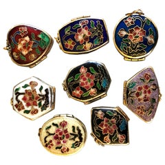 1930 Chinese Export Cloisonné Pill Boxes Collection