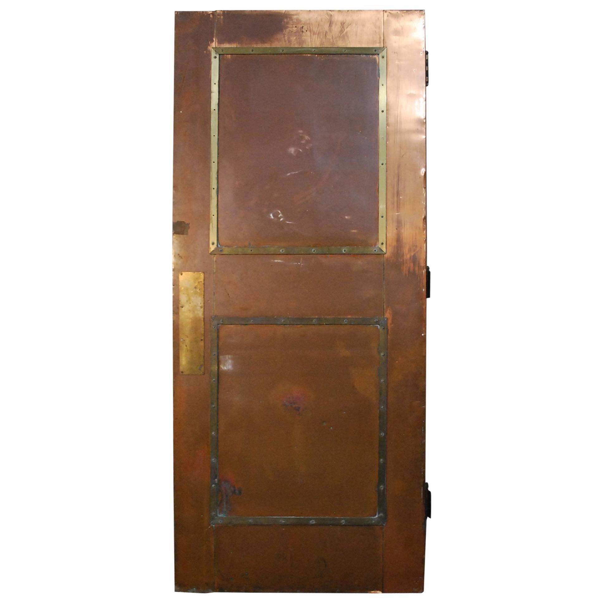 1930 Copper or Brass Industrial Door