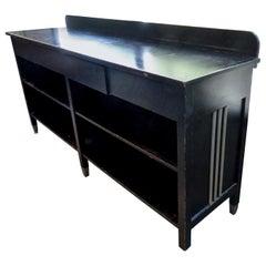 1930 Ebony Server/Mercantile Display Cabinet