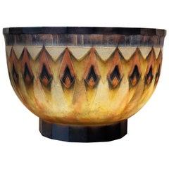 1930 Gabriel Argy-Rousseau Fers de Lance Bowl Pate de Verre Glass