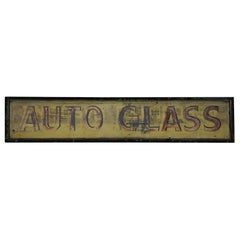 1930 Hand Painted Automotive Sign on Tin