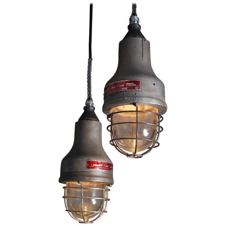 1930 Industrial Appleton Pendant Lights For Sale