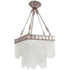 1930 Jean Perzel, French Pentagonal Elegant Ceiling Lamp