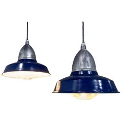 1930 Large 1100 Industrial Pendant Lights, Appleton Electric Co., Chicago