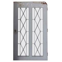 1930 New Jersey Steel Doors with Diamond Lattice Design