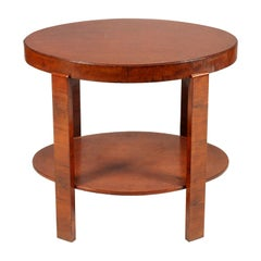 1930 Oval Side Table Coffee Table Art Deco by Osvaldo Borsani in Veneered Walnut