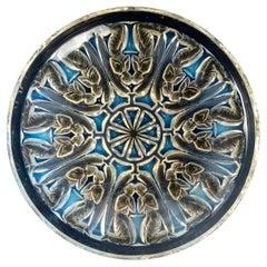 1930 René Lalique Anges Coupe Bowl Opalescent Glass, Angels