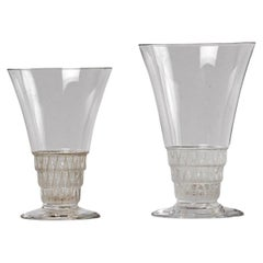 1930 Rene Lalique Original 20 Pieces Glasses Bourgueil Wine Bourgogne Bordeaux