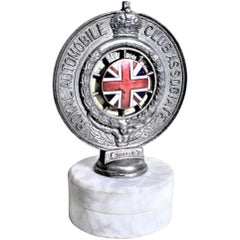 1930 Royal Automobile Club Associate British Enameled Radiator Cap Car Badge