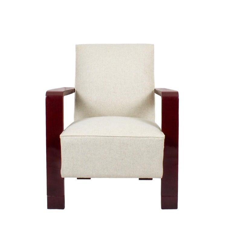 Spectacular Art Deco cubist armchair,
