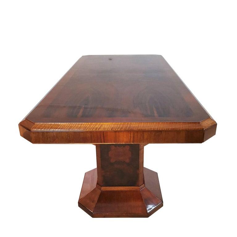 1930´s Art Deco Meeting Table, Walnut and Burl Walnut Veneer, Strut, Barcelona For Sale 2