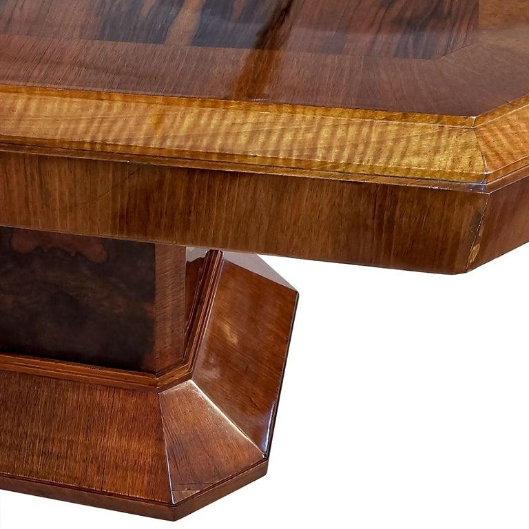 1930´s Art Deco Meeting Table, Walnut and Burl Walnut Veneer, Strut, Barcelona For Sale 3