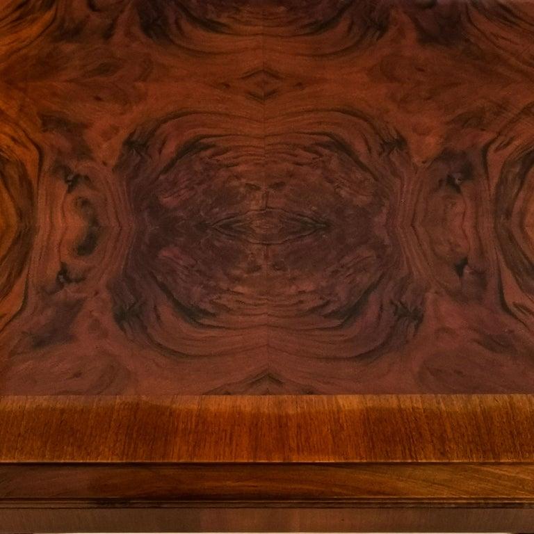 1930´s Art Deco Meeting Table, Walnut and Burl Walnut Veneer, Strut, Barcelona For Sale 4