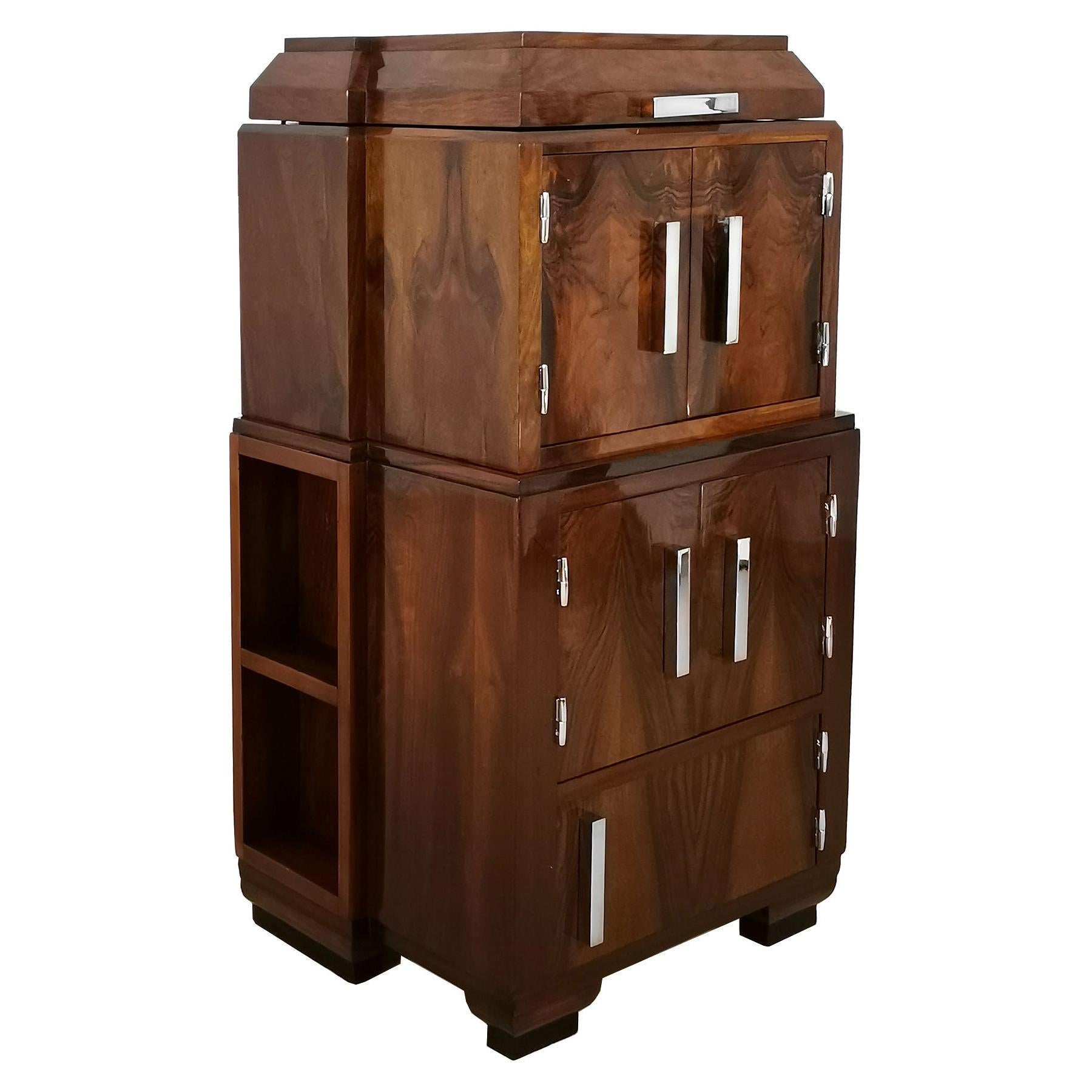 1930´s Art Deco Radio Cabinet Converted into a Bar or Auxiliary Cabinet, France