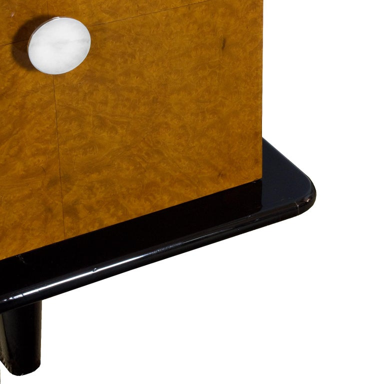 1930s Art Deco Sideboard, Maple, Zebrano, Cherrywood, Black Lacquer, Italy For Sale 3