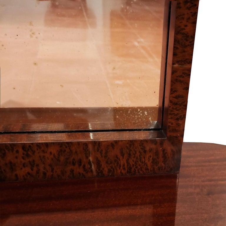 1930s Art Deco Vanity, Mahogany and Burr Mahogany Veneer, France For Sale 2