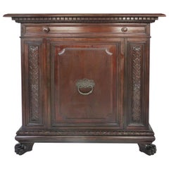 1930 S. Pagano Carved Lion Paw Traditional Cabinet