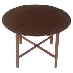 1930s Restored Danish Art Deco Teak Side Table