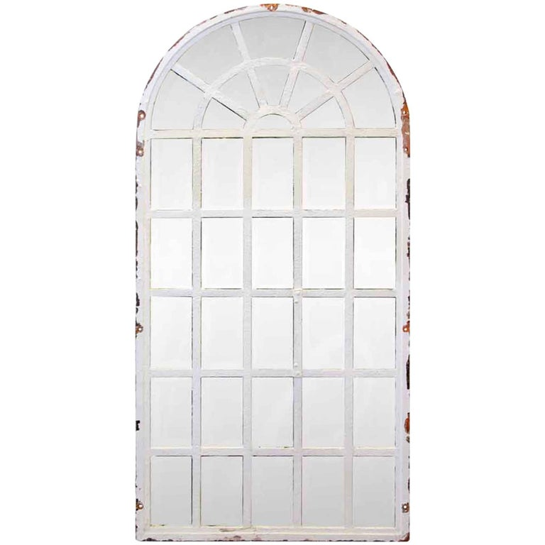 1930 Steel Frame Palladium Arched Chicken Wire Windows For